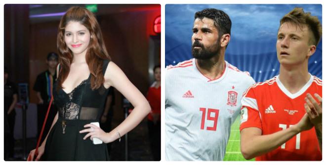 """Nóng cùng mỹ nhân World Cup 1/7: Hot girl An Tây chơi """"trò lạ"""" cổ vũ TBN - 1"""