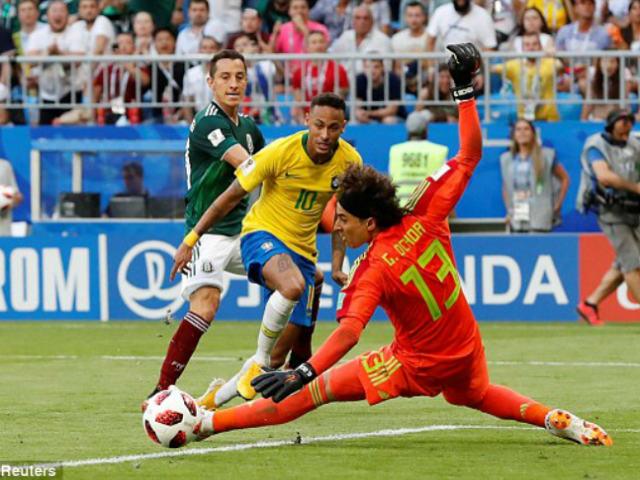 Góc chiến thuật Brazil – Mexico: Neymar nhảy múa phá trận đồ pressing