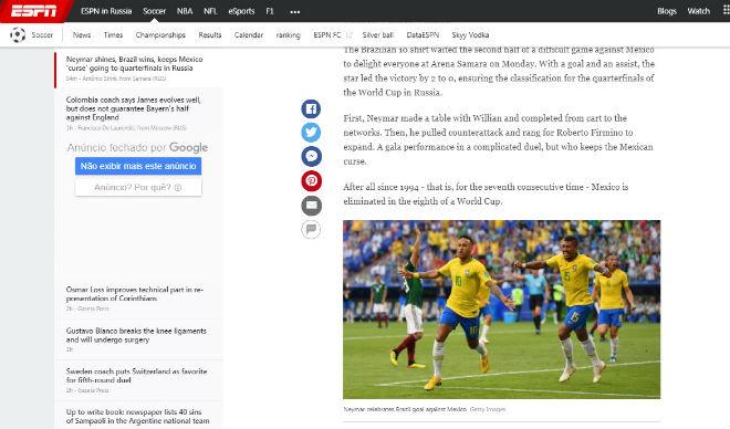 """Neymar rực rỡ, Brazil vào tứ kết World Cup: """"Báo nhà"""" nức nở siêu kỉ lục - 1"""