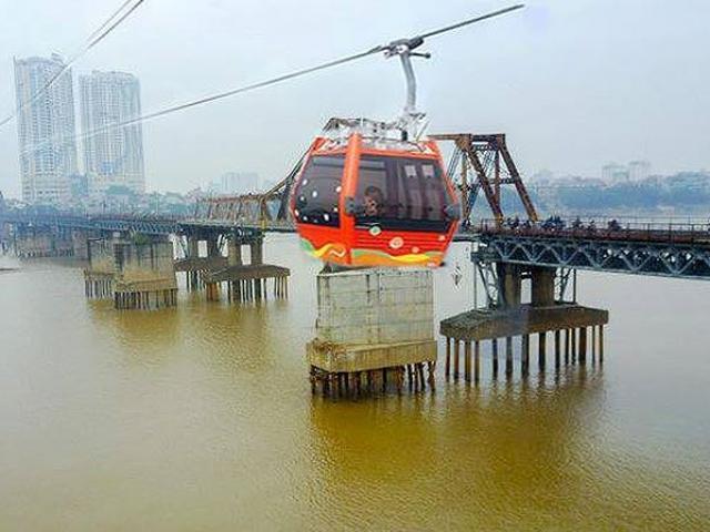 1.300 tỷ đồng cho 5 km cáp treo qua sông Hồng