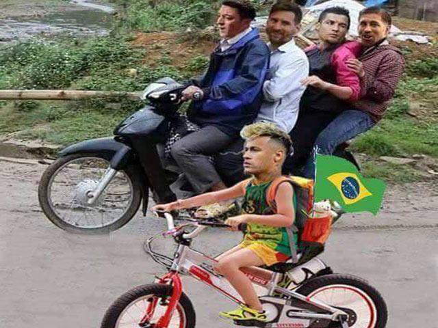"""Neymar quyết """"bỏ rơi"""" đàn anh để chiến đấu với World Cup"""