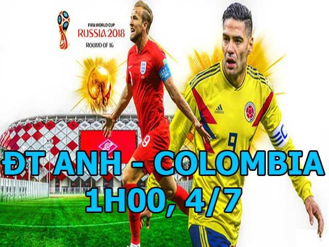 """World Cup, Anh - Colombia: """"Vua sư tử"""" Kane đại chiến """"Mãnh hổ"""" Falcao"""