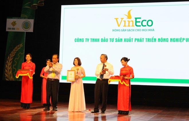 Vineco đạt danh hiệu thương hiệu vàng nông nghiệp Việt Nam - 1