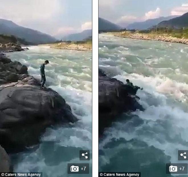 Quay video chứng minh sự dũng cảm, thanh niên Pakistan nhận kết cục bi thảm - 1