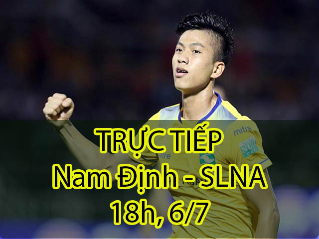 Trực tiếp Nam Định – SLNA: 5 phút 2 bàn, chủ nhà hưng phấn