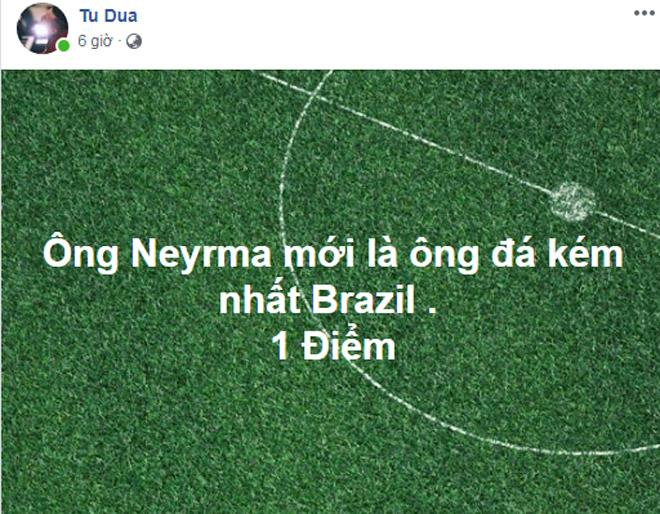 Tiếc nuối Brazil dang dở giấc mơ vàng, sao Việt chỉ trích Neymar - 1