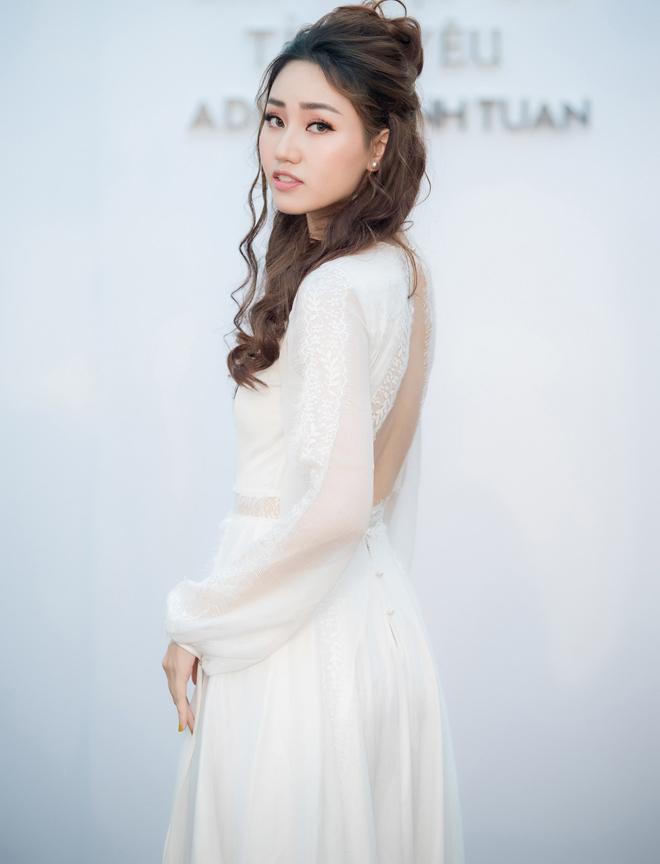 Á hậu Huyền My lấp ló ngực đầy trong làn váy trắng mỏng manh - hình ảnh 10