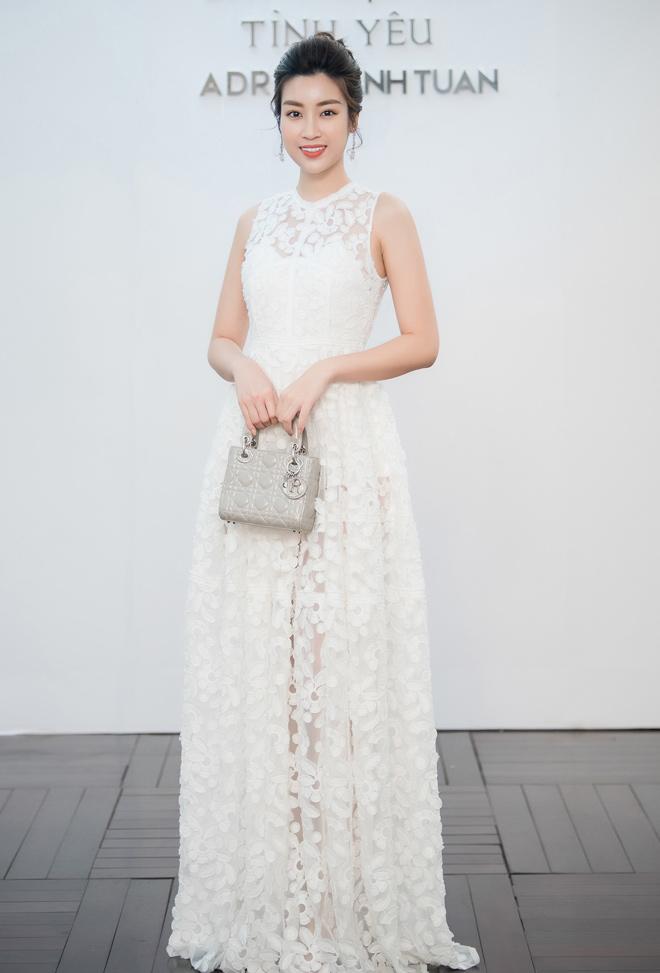 Á hậu Huyền My lấp ló ngực đầy trong làn váy trắng mỏng manh - hình ảnh 8