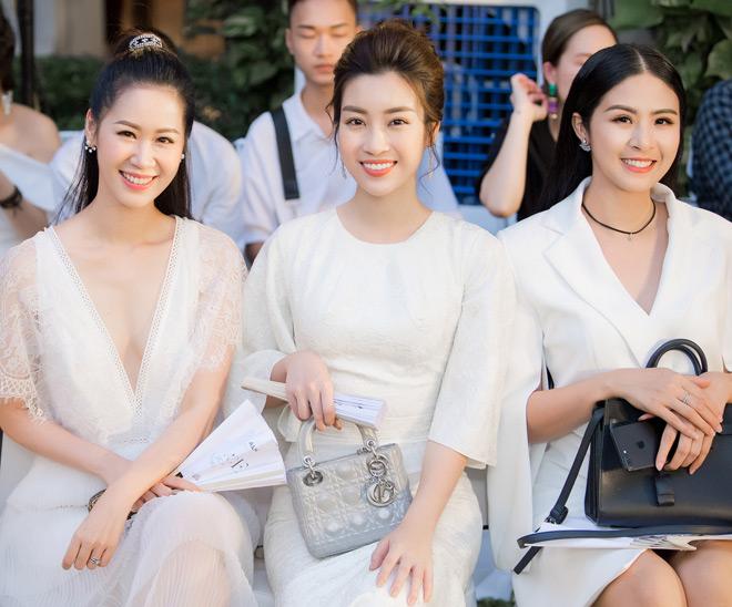 Á hậu Huyền My lấp ló ngực đầy trong làn váy trắng mỏng manh - hình ảnh 11