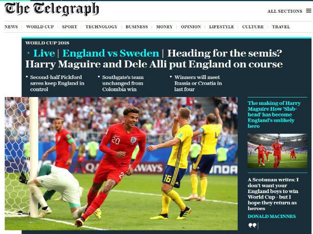 ĐT Anh vào bán kết World Cup: Báo chí khen chiến thuật cao tay, mơ vô địch