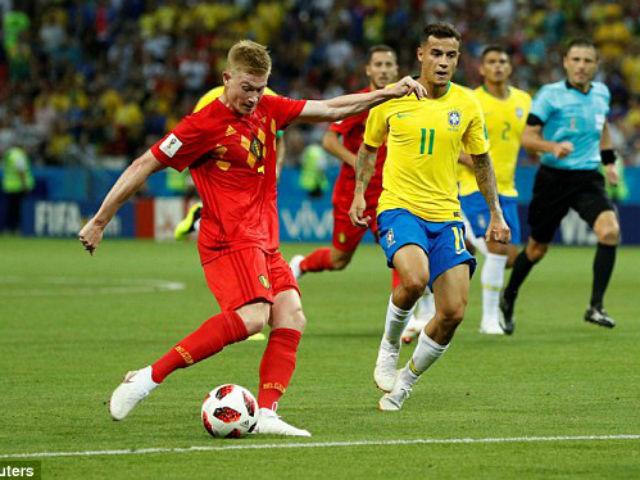 """Siêu phẩm World Cup: Lukaku """"xé gió"""", De Bruyne sút đại bác, Brazil choáng váng"""