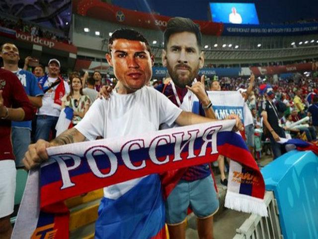 """Ấn tượng World Cup ngày 8/7: """"Messi, Ronaldo"""" cổ vũ Nga, fan Anh - Croatia mở hội"""