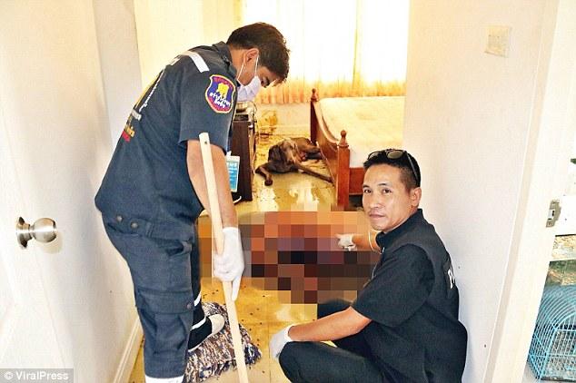 Thi thể chủ nhân bị chó cưng ăn thịt trong căn hộ ở Thái Lan - 1