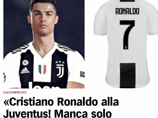 """Trực tiếp """"bom tấn"""" Ronaldo rời Real sang Juventus: Trang chủ Real xác nhận bán CR7"""