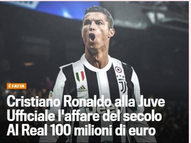 Ronaldo đến Juventus: Báo thân Barca hả hê, cả thế giới rúng động