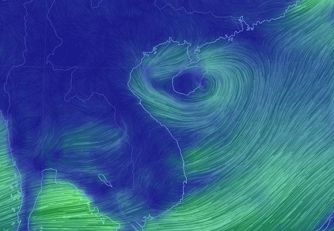 Xuất hiện vùng áp thấp có khả năng mạnh lên hướng vào Vịnh Bắc Bộ - 1