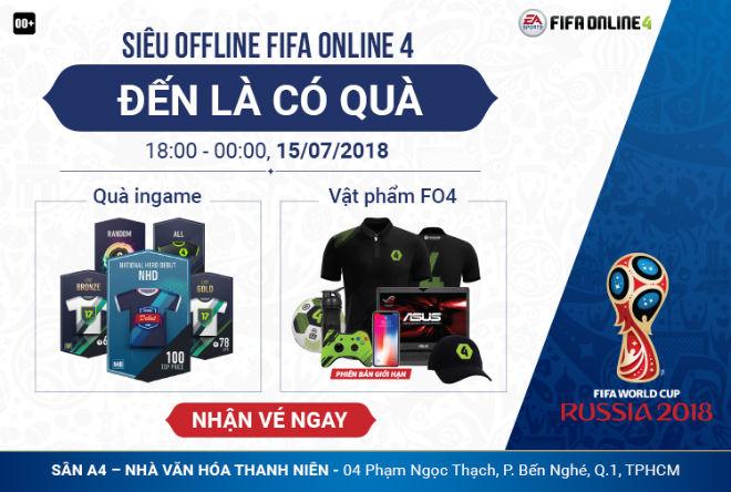 SIÊU OFFLINE FIFA ONLINE 4 xem chung kết World Cup 2018 - 1