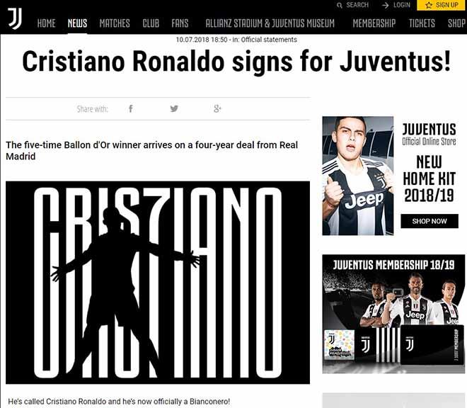 """""""Bom tấn"""" Ronaldo rời Real sang Juventus: Chia tay xúc động, công bố chính thức - 1"""