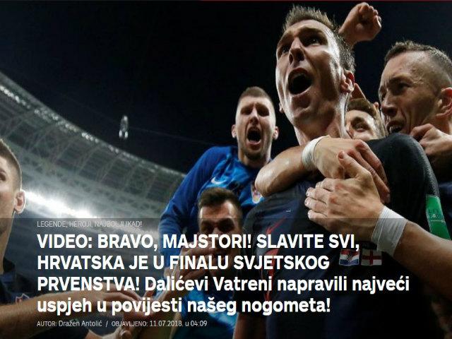 Croatia hạ Anh vào chung kết World Cup: Báo chí bùng nổ, lịch sử sang trang