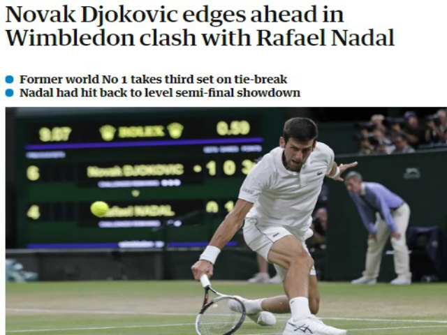 """Siêu đại chiến Nadal – Djokovic: Báo chí hồi hộp chờ """"phần 2"""", Rafa gặp khó"""