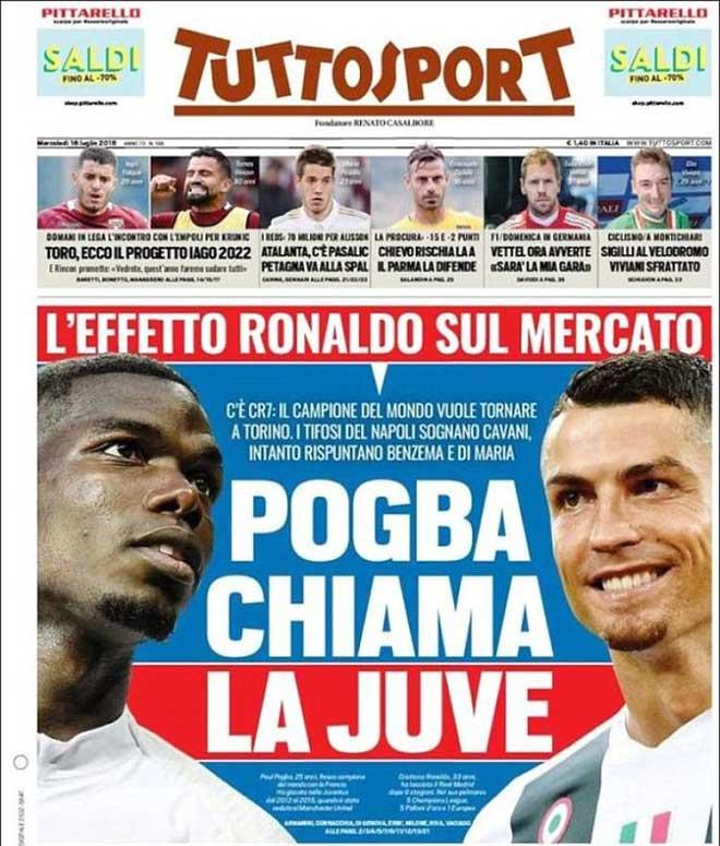 """Chấn động chuyển nhượng: Pogba bỏ MU làm """"trợ lý"""" Ronaldo, Chelsea """"tiếp tay"""""""
