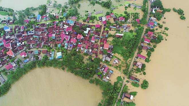 Toàn cảnh ngập lụt kinh hoàng ở Chương Mỹ nhìn từ flycam - 6