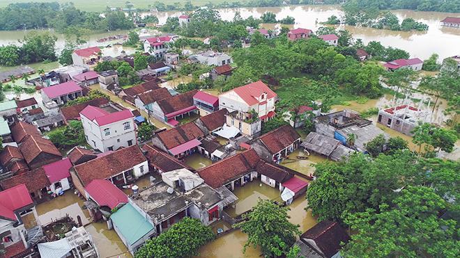 Toàn cảnh ngập lụt kinh hoàng ở Chương Mỹ nhìn từ flycam - 5