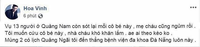 """""""Hiện tượng mạng"""" Hoa Vinh gây sốc khi kêu gọi từ thiện vụ tai nạn Quảng Nam - hình ảnh 1"""