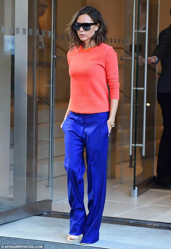 """Victoria Beckham: Nữ hoàng """"thả rông"""" vẫn thanh lịch - hình ảnh 4"""