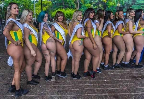 Hoa hậu Siêu vòng 3 Brazil 2018 làm náo loạn đường phố - hình ảnh 2