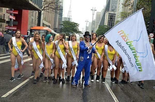 Hoa hậu Siêu vòng 3 Brazil 2018 làm náo loạn đường phố - hình ảnh 3