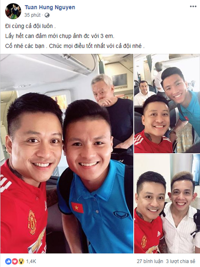 """Lý do Tuấn Hưng """"phải lấy hết can đảm"""" để chụp ảnh cùng SAO U23 Việt Nam - hình ảnh 1"""