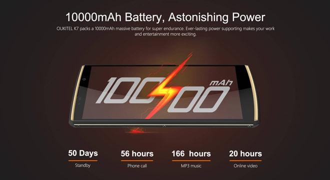 Oukitel K7  pin 10.000mAh, Ram 4G,Rom 64G giảm giá 500 ngàn trong ngày đầu ra mắt - 1