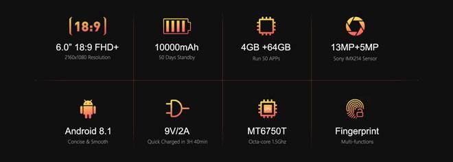 Oukitel K7  pin 10.000mAh, Ram 4G,Rom 64G giảm giá 500 ngàn trong ngày đầu ra mắt - 3
