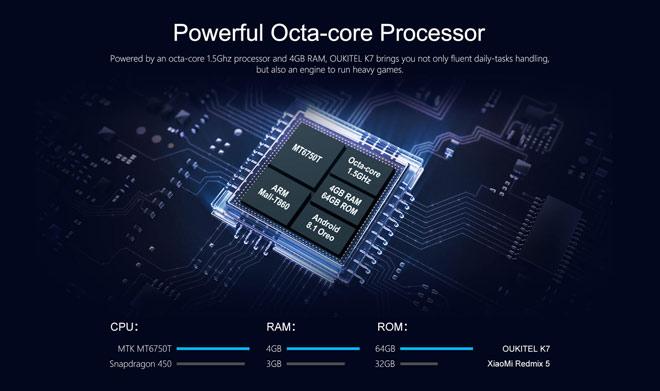 Oukitel K7  pin 10.000mAh, Ram 4G,Rom 64G giảm giá 500 ngàn trong ngày đầu ra mắt - 4