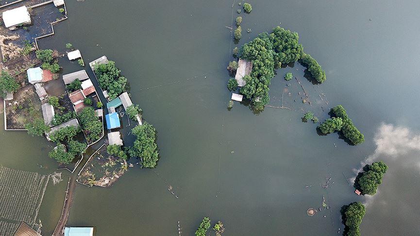 Toàn cảnh vùng trũng ngập huyện Chương Mỹ nhìn từ trên cao - hình ảnh 2