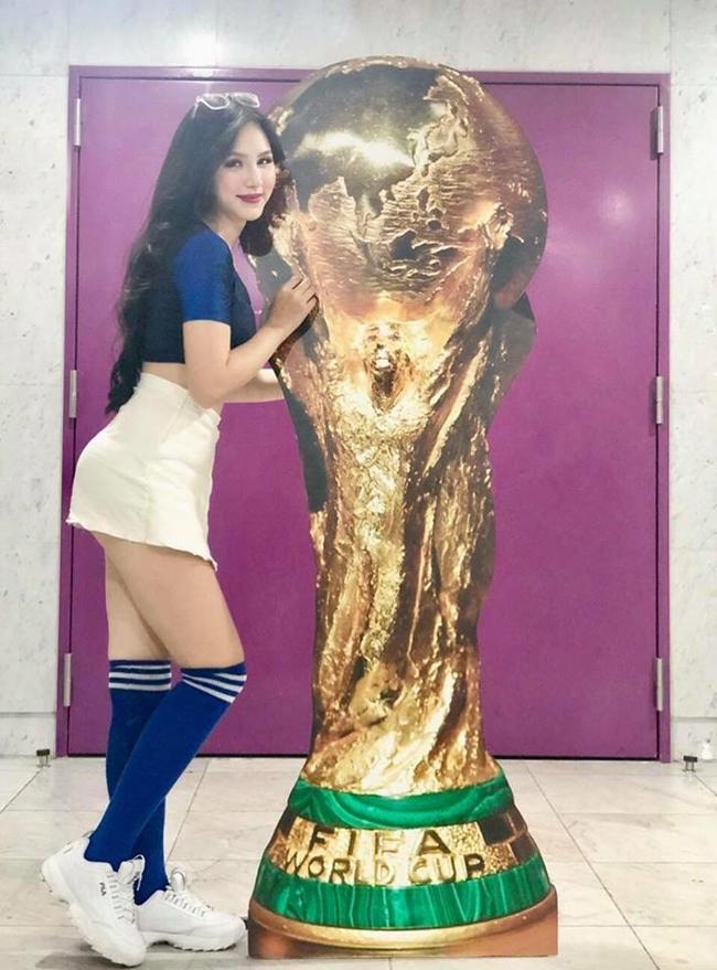 4 hot girl nóng bỏng cổ vũ World Cup: Người cát-xê tăng vọt, kẻ ồn ào chỉ trích - hình ảnh 1