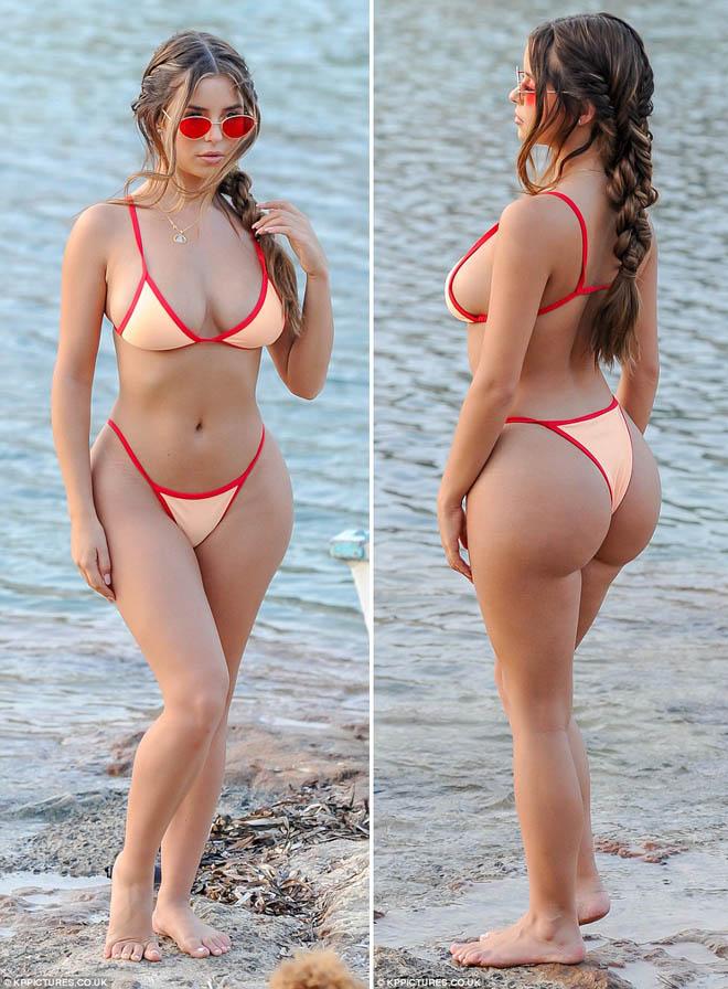 """""""Nấm lùn xinh nhất nước Anh"""" lại mặc bikini bé bằng bàn tay gây sốt - hình ảnh 2"""