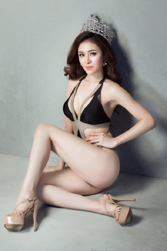 """Đường cong """"mỹ miều"""" của Á hậu Việt bị nghi quay clip sốc ở Tuyệt tình cốc - hình ảnh 3"""