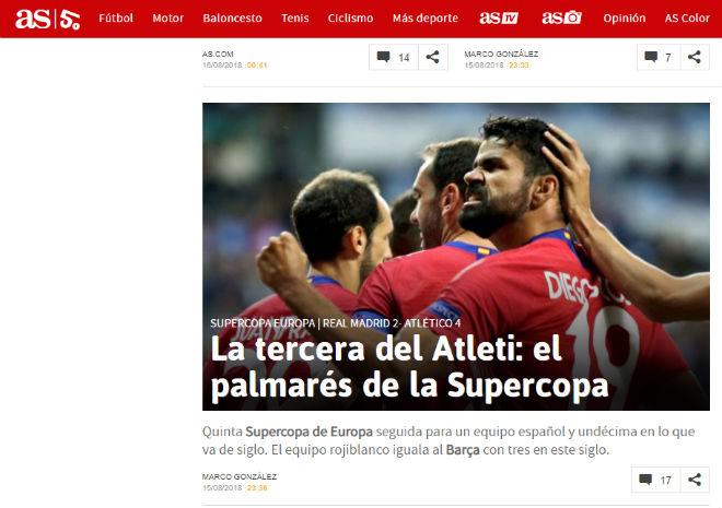 Atletico đoạt Siêu cúp: Báo thế giới xoáy sâu nỗi đau Real mất Ronaldo - 2