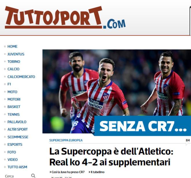 Atletico đoạt Siêu cúp: Báo thế giới xoáy sâu nỗi đau Real mất Ronaldo - 5
