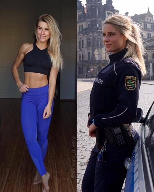 Nữ cảnh sát cởi đồng phục, mặc bikini hot hơn cả người mẫu - hình ảnh 1