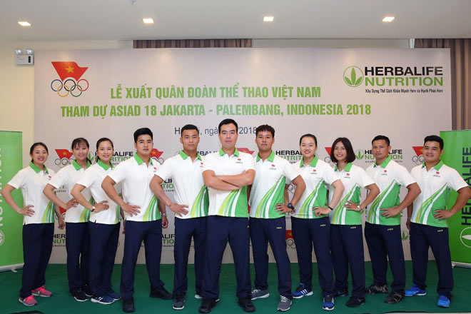 Đoàn thể thao Việt Nam hừng hực khí thế ngày xuất quân lên đường thi đấu ASIAD 18 - 1