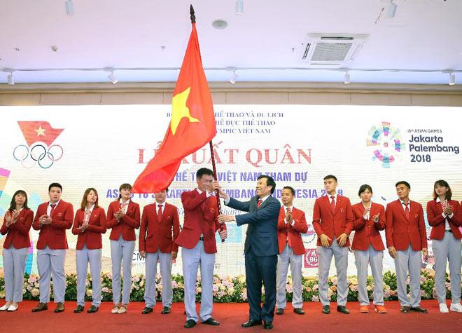 Đoàn thể thao Việt Nam hừng hực khí thế ngày xuất quân lên đường thi đấu ASIAD 18 - 5
