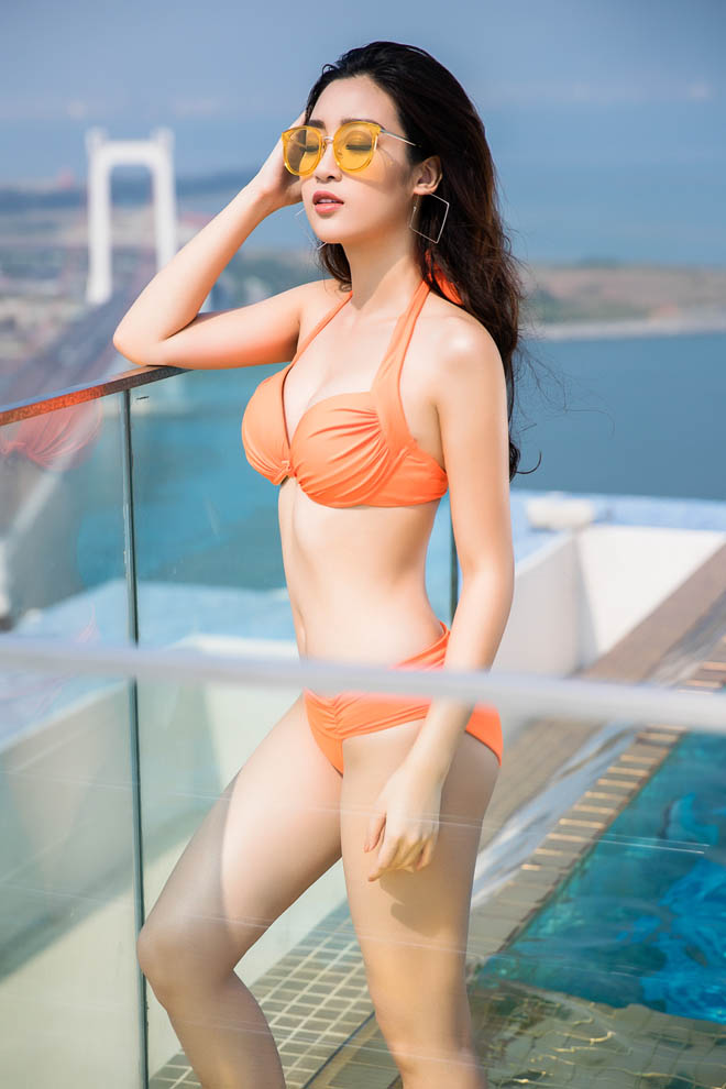 Top 3 Hoa hậu Việt Nam 2016 tung ảnh bikini nóng rực ở hồ bơi dát vàng - hình ảnh 6