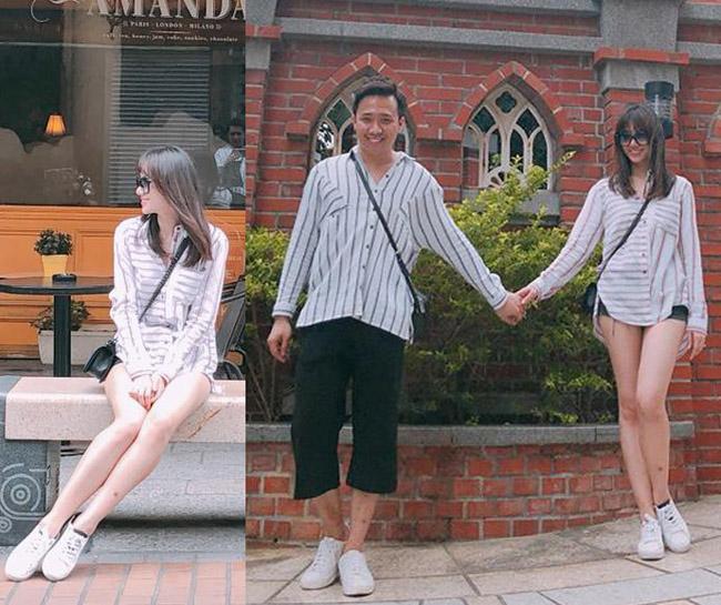 Vợ Trường Giang, Trấn Thành mặc khoe eo, giấu quần cực gợi cảm - hình ảnh 14