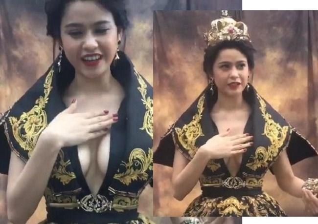 """Những chiếc váy """"để đời"""" khiến Vũ Ngọc Anh, Mai Phương Thúy lúng túng che chắn - hình ảnh 9"""