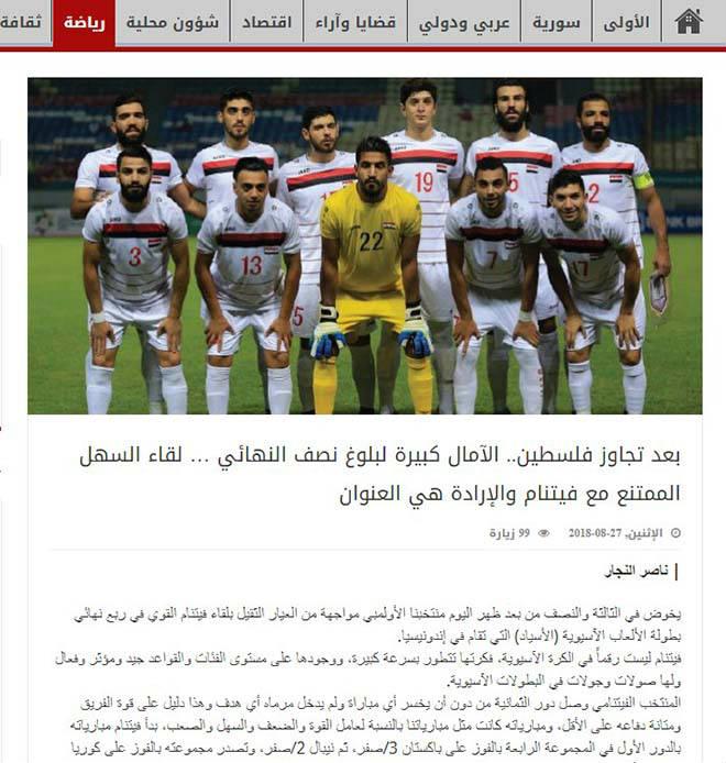 Tờ Al Watan khẳng định chiến thắng của U23 Việt Nam là xứng đáng