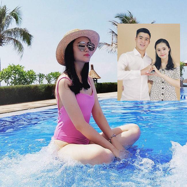 """Mặc áo tắm, bạn gái Văn Toàn, Văn Thanh, Duy Mạnh """"hot"""" 100% - hình ảnh 4"""