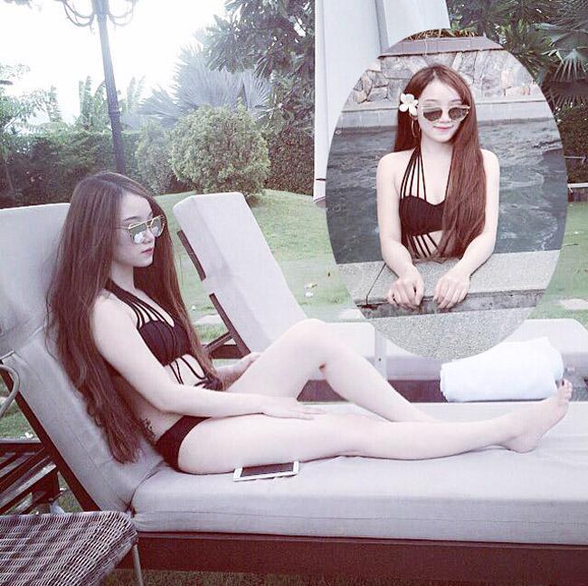 """Mặc áo tắm, bạn gái Văn Toàn, Văn Thanh, Duy Mạnh """"hot"""" 100% - hình ảnh 8"""